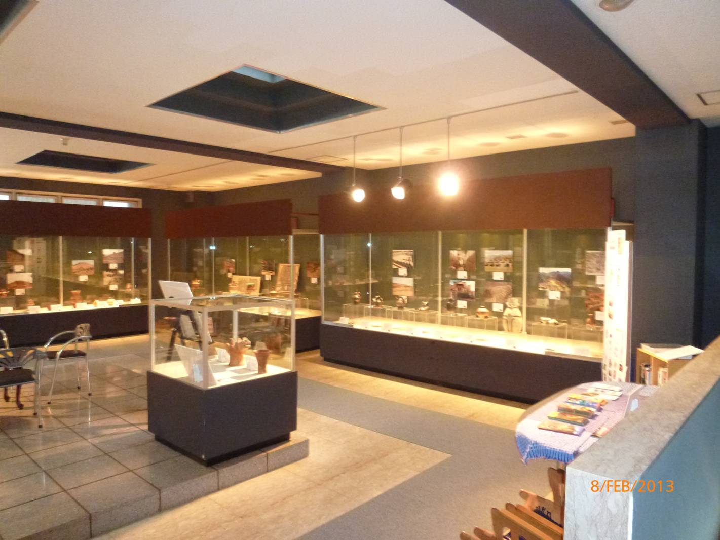 Many archaeological pieces in the Latin American Museum of Bizen