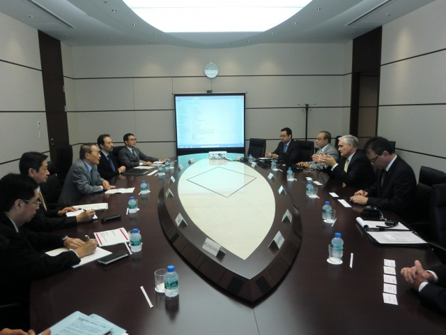 During the meeting with Mitsubishi Corporation.