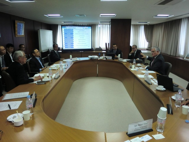 During the meeting with the Japanese Shipowners' Association.