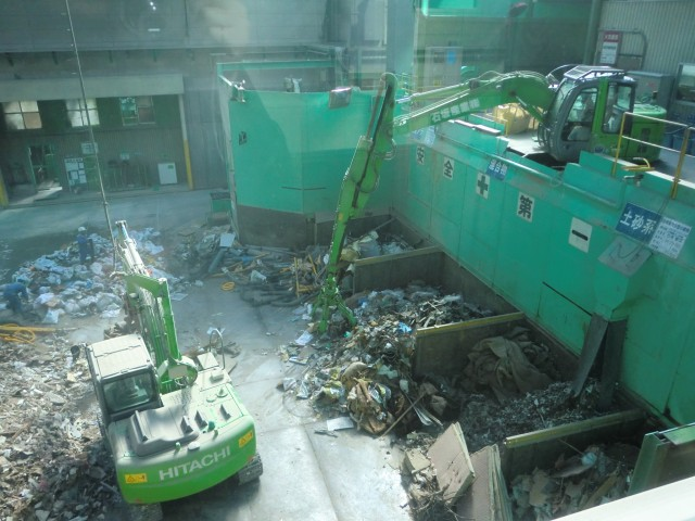 The recycling plant of Ishizaka Sangyo Co., Ltd.
