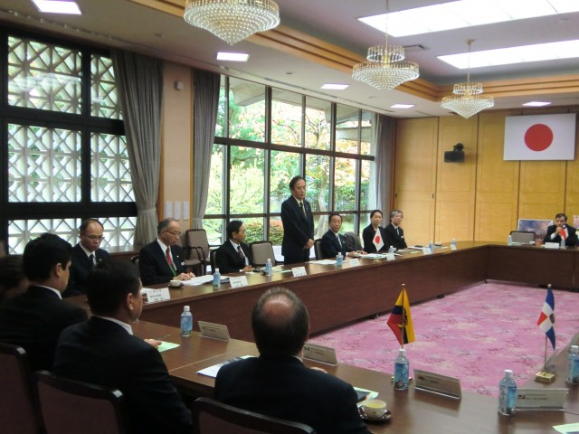 H.E. Kiyoshi Ueda, Governor of Saitama Prefecture, during his welcome remarks to the Ambassadors of GRULAC.