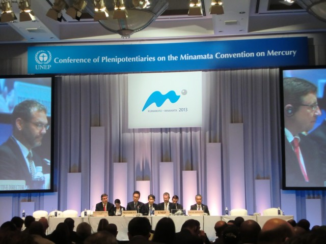 The Conference of Plenipotentiaries on the Minamata Convention on Mercury.