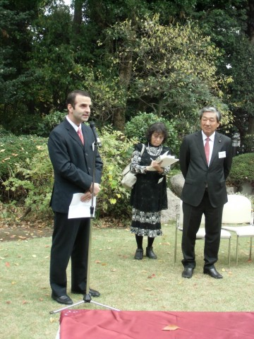 H.E. Jorge Kosmas Sifaki, Ambassador of Panama to Japan, in his capacity of President of GRULAC, expressing his gratitude to the Vice President Akamatsu for his hospitality.