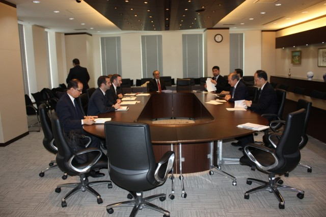During the meeting with Japanese International Cooperation Agency (JICA).