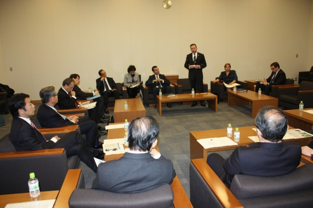 H.E. Francisco Álvarez De Soto, during his remarks in the meeting with the Diplomats of Interparlamentary League Panama-Japan.