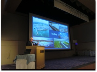 Mr. Jorge Quijano, Administrator of the Panama Canal Authority, during his presentation in the maritime seminar organized by the Ministry of Land, Infrastructure, Transport and Tourism of Japan (MLIT).