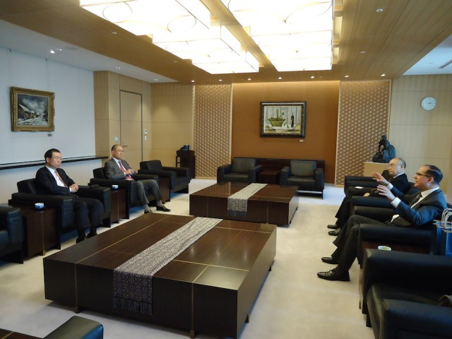 During the courtesy visit to Mizuho Bank, Ltd.