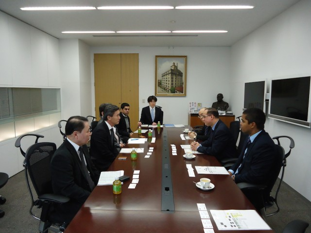 During the meeting with the representatives of Meiji Shipping, on February 19th.