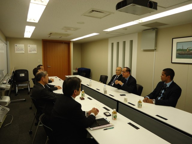 Meeting with top representatives of Mitsui Ore Transport Co., Ltd., on February 19th.