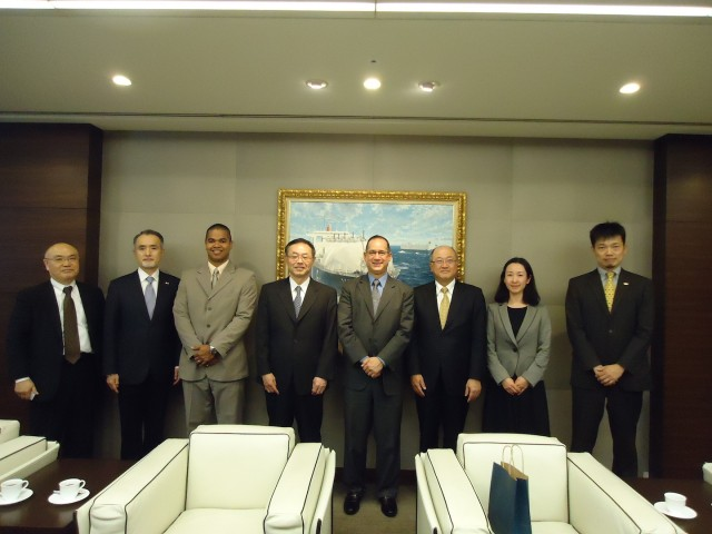During the visit to Mitsui O.S.K. Lines, Ltd., on March 2nd.