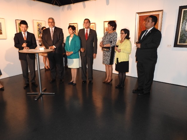 First from left: Mr. Ken Hashiba, Director of Mexico, Central America and Caribbean Division, during his speech.