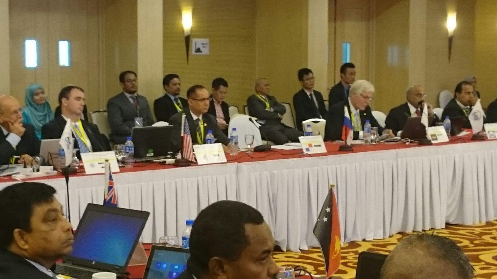 Second from the left, Ambassador Díaz, during the twenty-sixth meeting of Tokyo MOU held in Putrajaya, Malaysia.