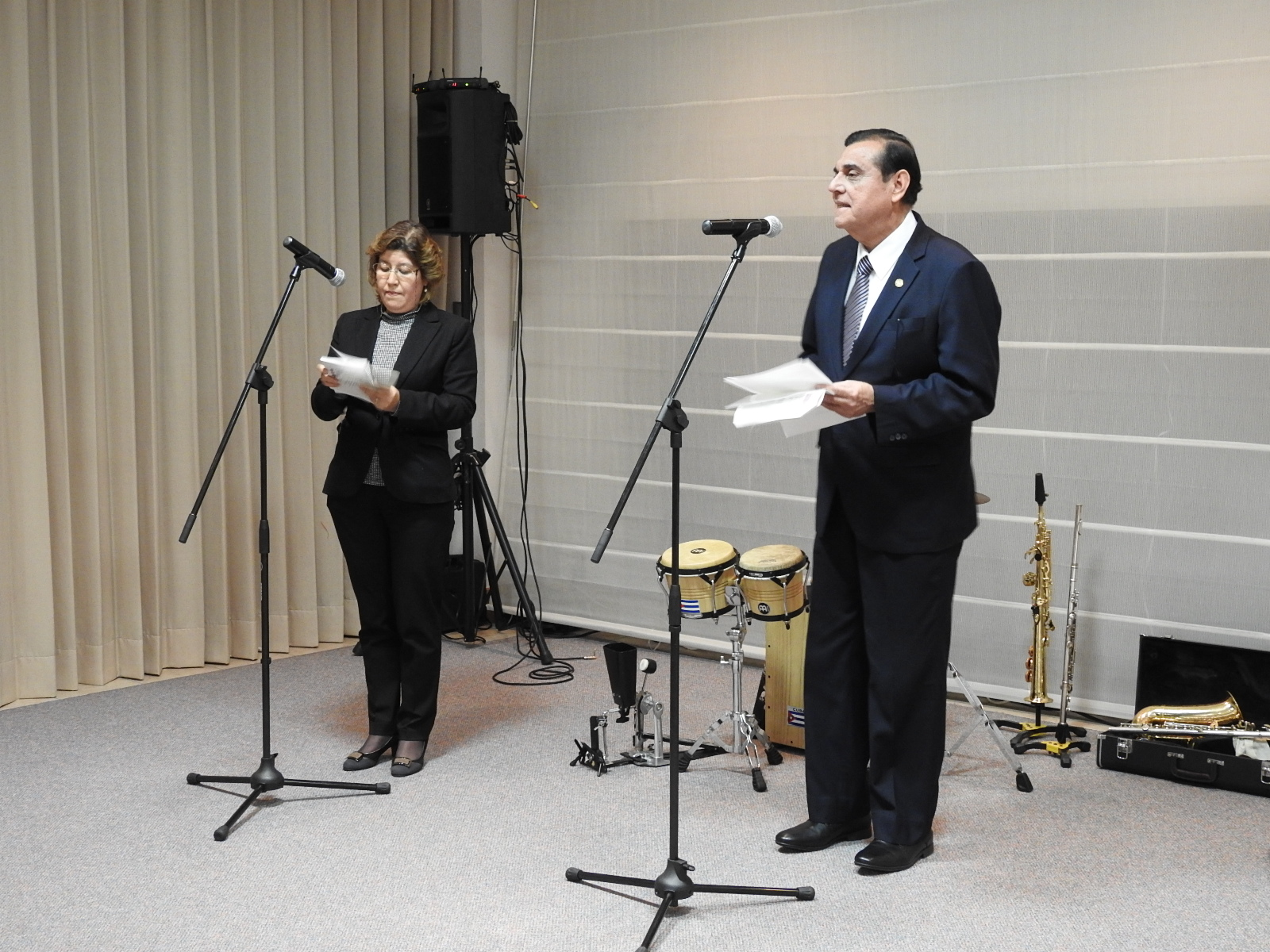 H.E. Saul Arana, Ambassador of Nicaragua, giving the welcome greetings