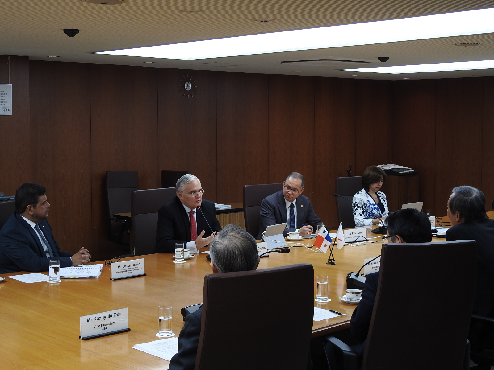 AMeeting with the Japan Shipowners Association (JSA)