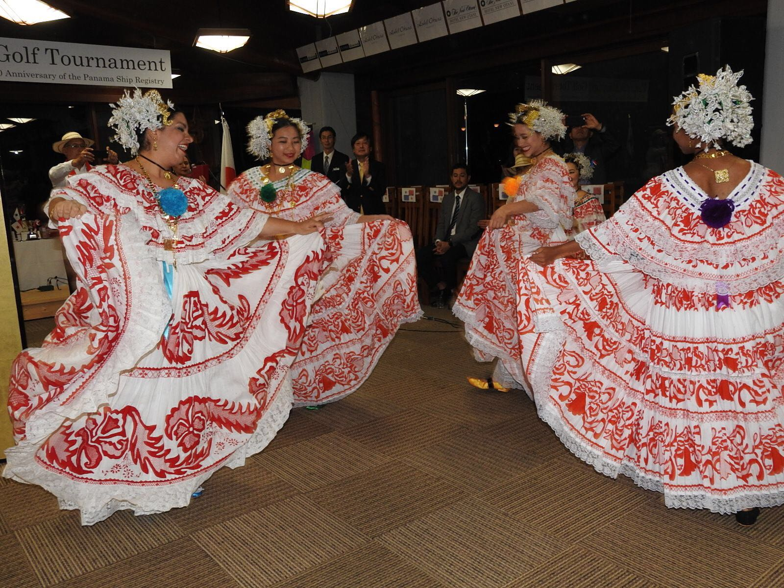 Panama dance show performed by the Folklore group of the Embassy of Panama in Japan