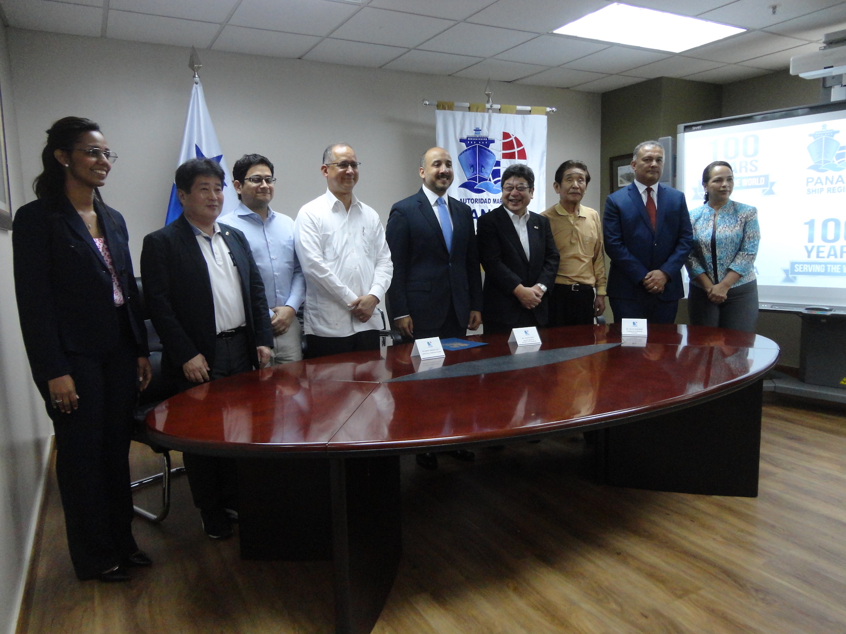 During the courtesy visit to the Panama Maritime Authority