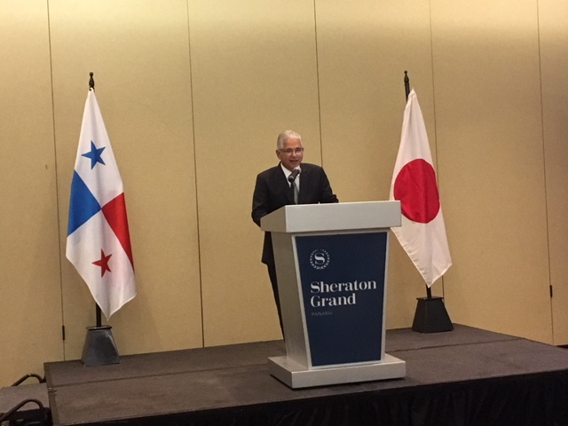 Mayor Blandon, during his speech in the commemorative reception of the 40th Anniversaty of the Sister-City Agreement between Panama and Imabari