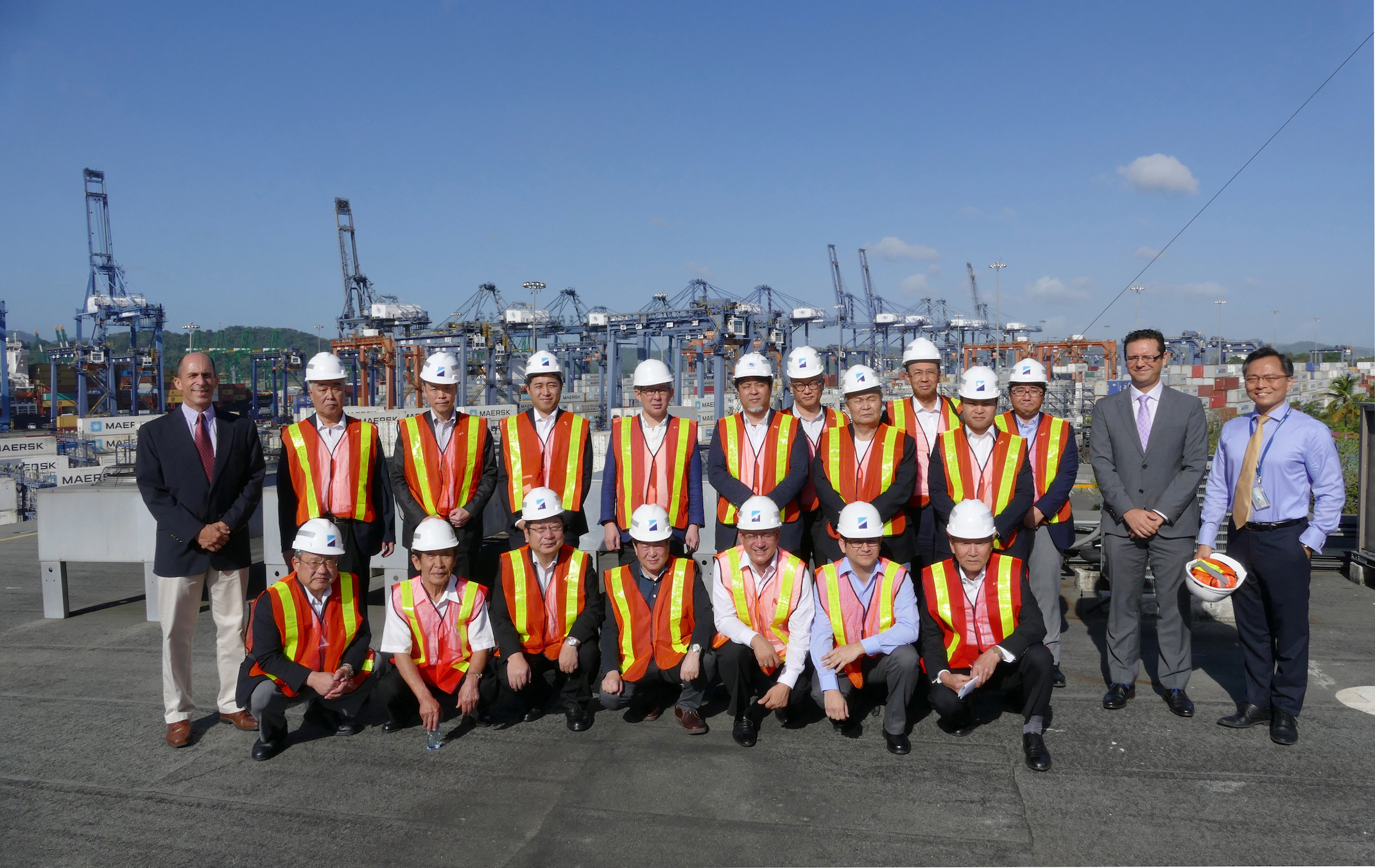 During the inspection tour in Balboa Port