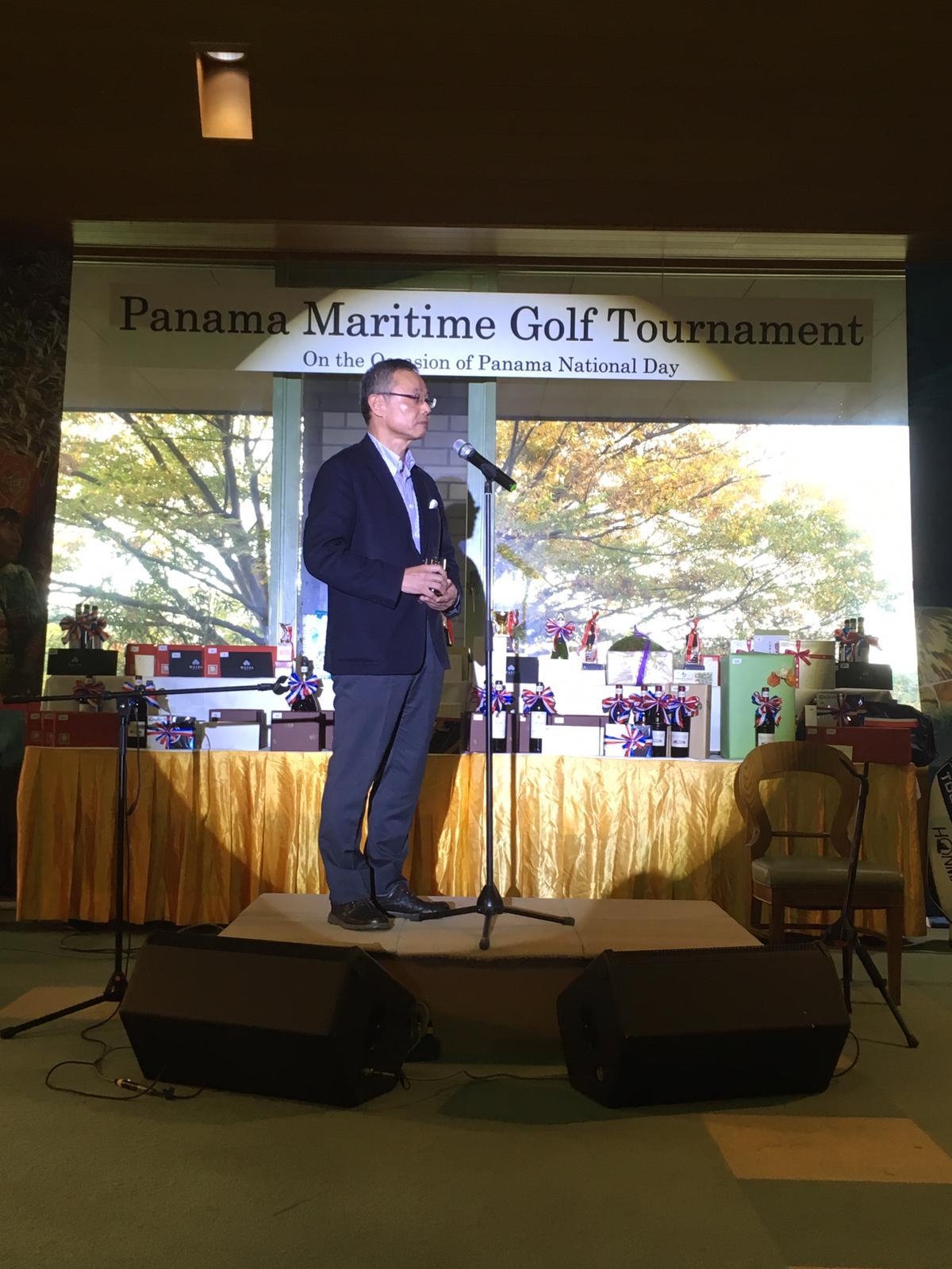 日本船主協会会長による乾杯の様子