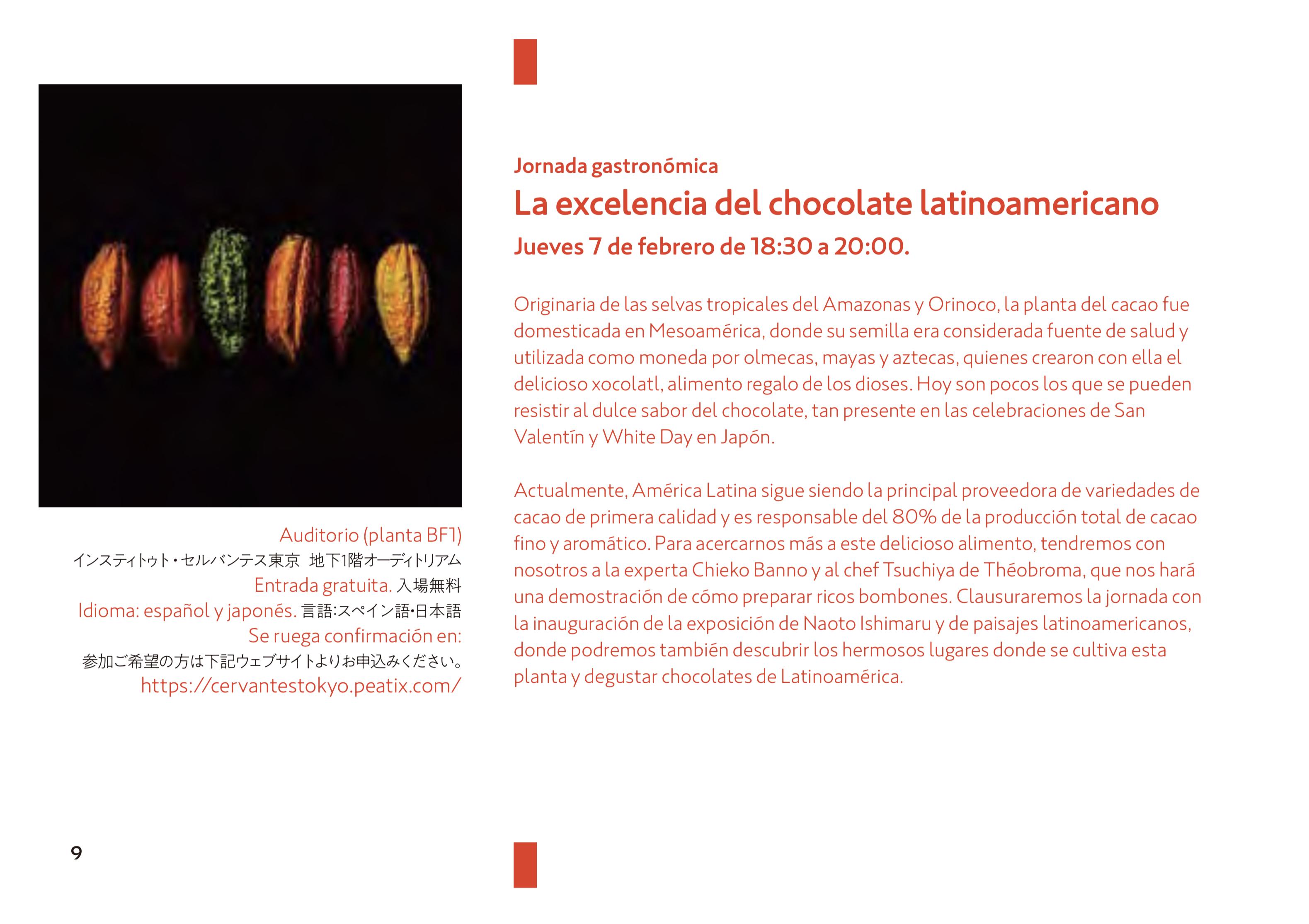 「素晴らしきラテンアメリカのチョコレート」