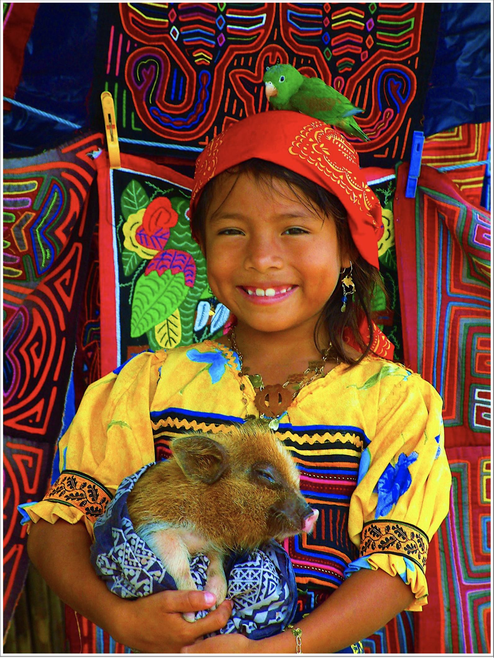 グナ族の少女